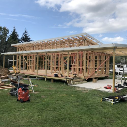 The builders in North Canterbury at Code Construction build this granny flat