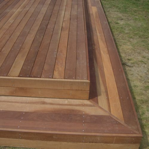 Code Construction builders working on a Jarrah Deck in North Canterbury