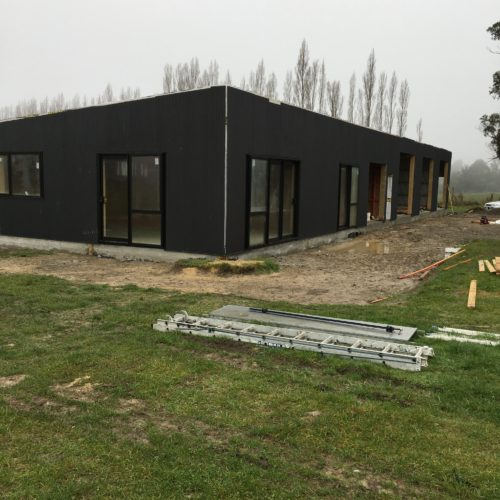 Shed in Loburn, North Canterbury built by the builders at Code Construction