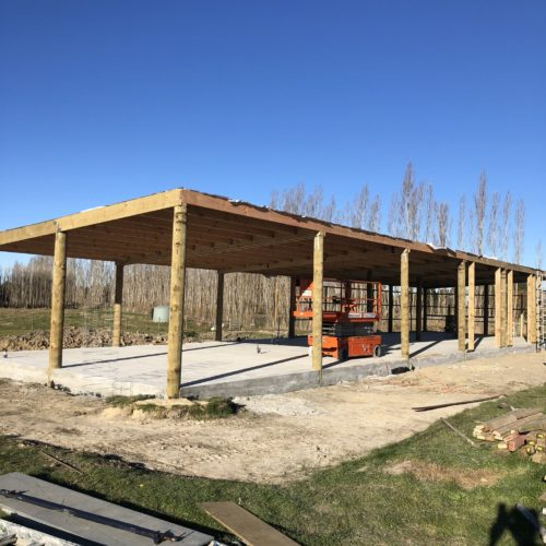 Shed in Loburn built by the builders at Code Construction located in North Canterbury