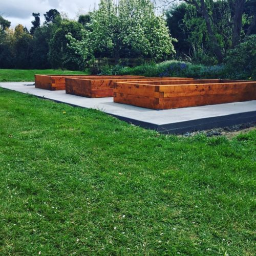 Veggie garden build by Code Construction in Christchurch